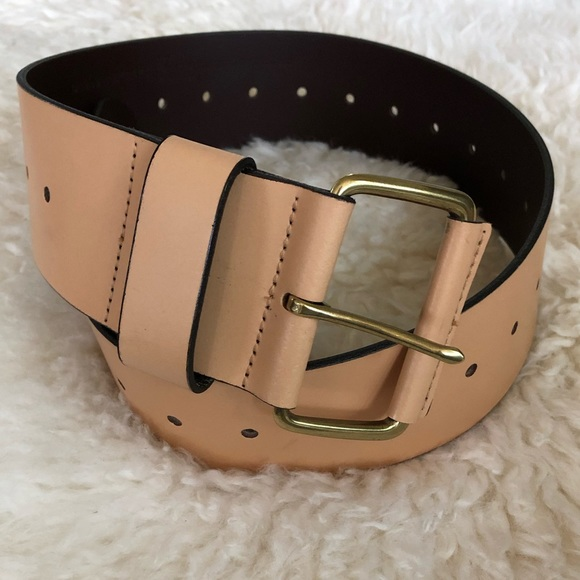 107f51361 Banana Republic Accessories | Nwot Br Wide Waist Belt In Tan Gold ...